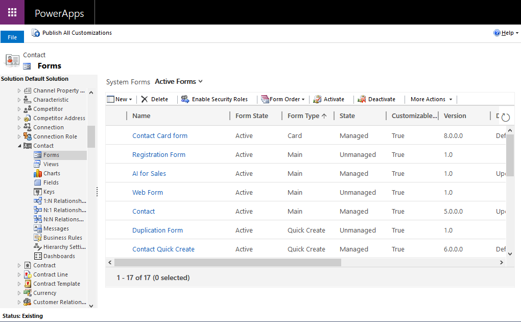 Create a new form using Solution Explorer